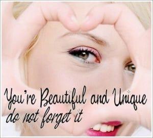 tu es belle et unique