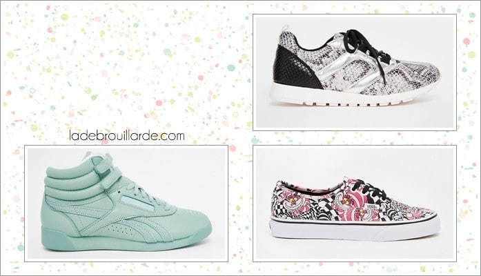 Selection sneaker motif printemps