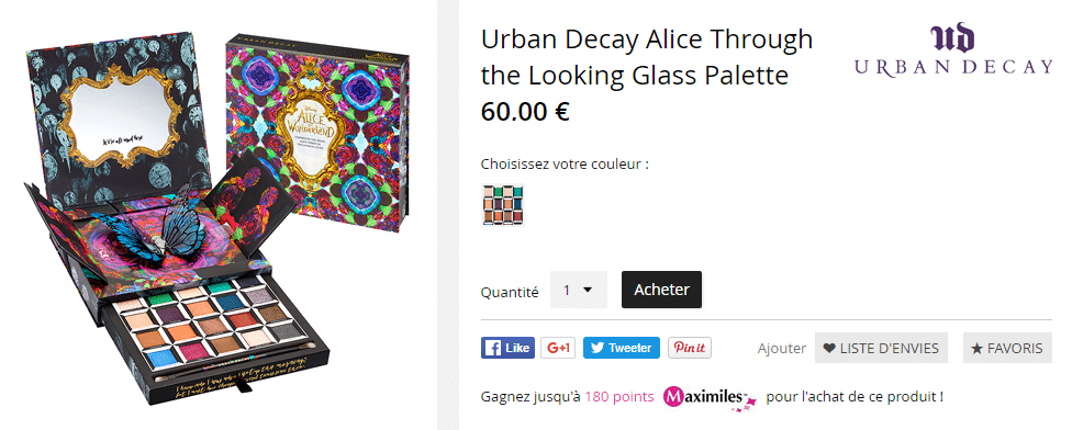 Urban Decay Alice Through The Looking glass Palette achat france