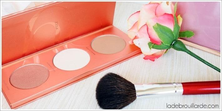 Palette Rose Golden de Zoeva avis revue swatch maquillage teint