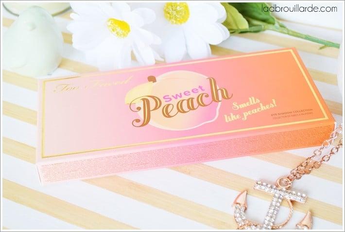 palette sweet peach too faced avis