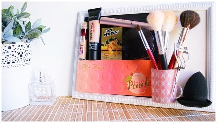 Rangement et organisation du maquillage