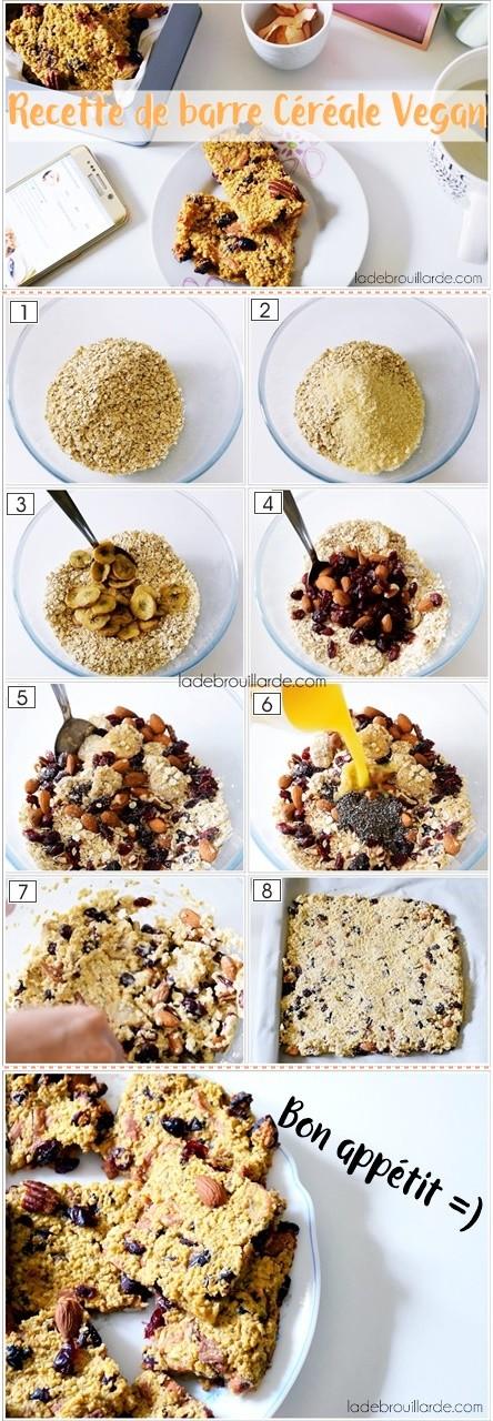 recette barre céréale vegan