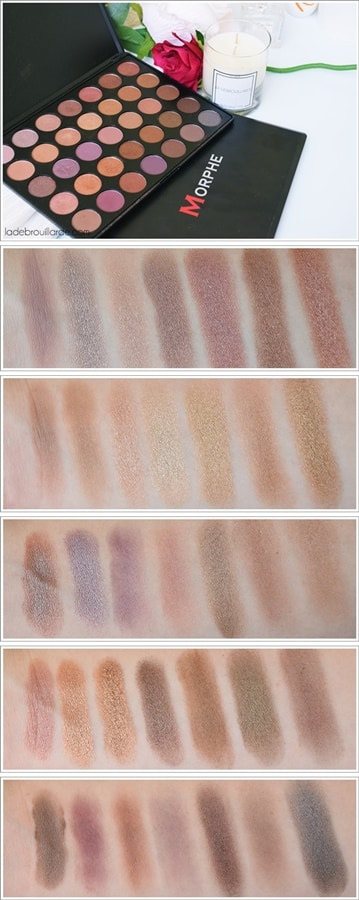 Palette 35T 35 Color Taupe MORPHE swatch
