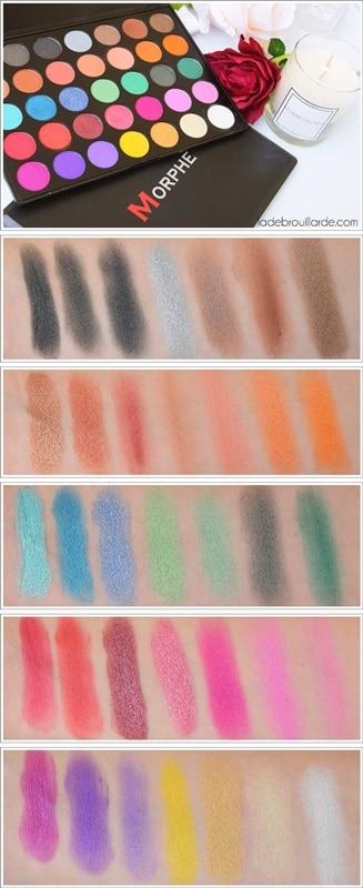 Palette 35U 35 Multi Color Shimmer MORPHE swatch