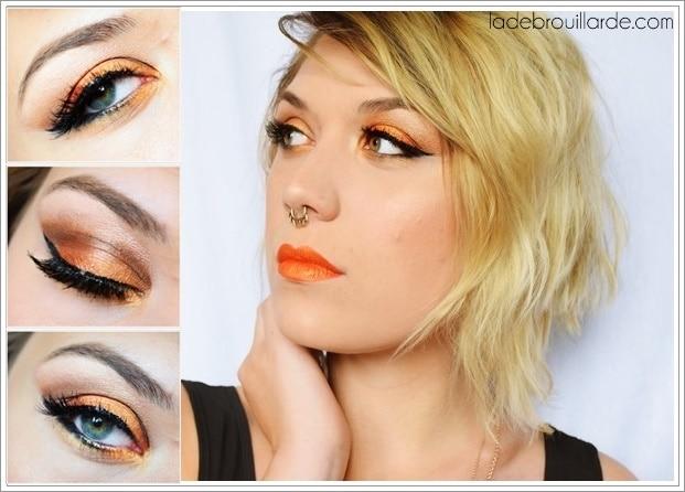 Make up Tangerine Smoky eye