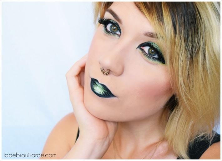 maquillage yeux vert eye liner
