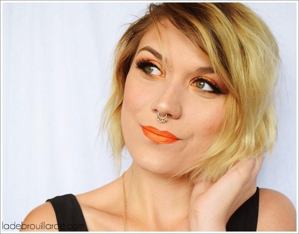 Maquillage orange mandarine