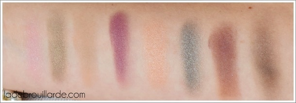 swatch palette serenade colors and make up