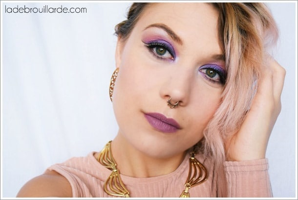 eye liner invisible smoky violet