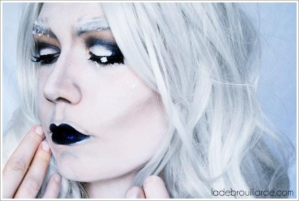 maquillage halloween reine des glaces