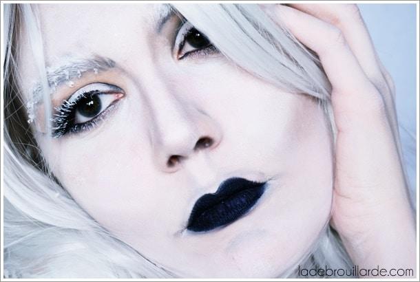 tutoriel maquillage halloween dame blanche