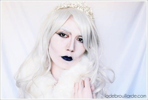 make up tutorial halloween snow queen
