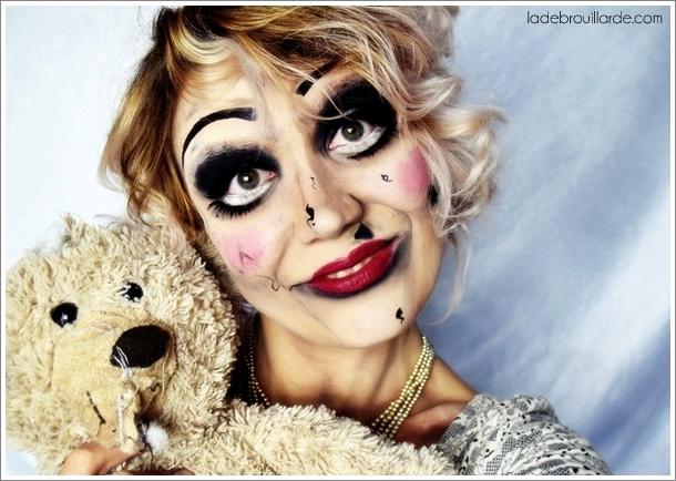 poupée annabelle maquillage halloween tuto