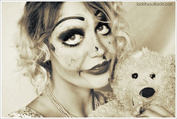 annabelle maquillage halloween horreur tutoriel