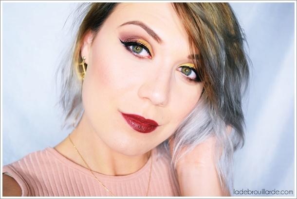 maquillage de soirée yeux vert