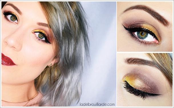 tutoriel maquillage soirée yeux vert noel nouvel an