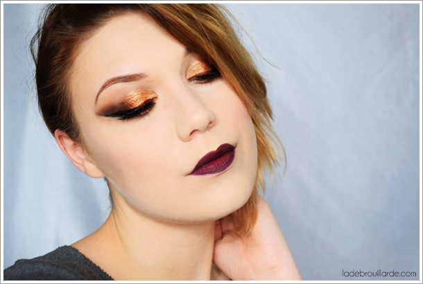 maquillage smoky eye facile rapide yeux doré