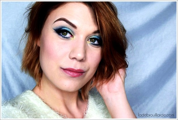 tutoriel maquillage bleu yeux smoky eye make up