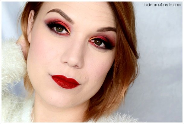 tutoriel maquillage rouge fard à paupière smoky eye