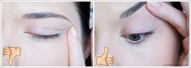 Astuce application eye liner 2