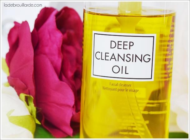 huile démaquillante Deep Cleansing Oil de DHC avis démo revue