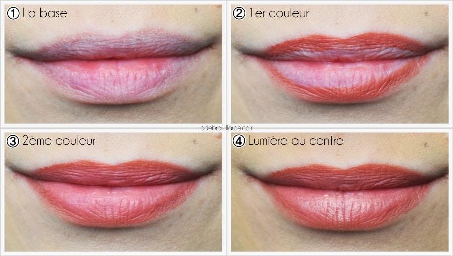 palette lip contour Maybelline revue swatch démo