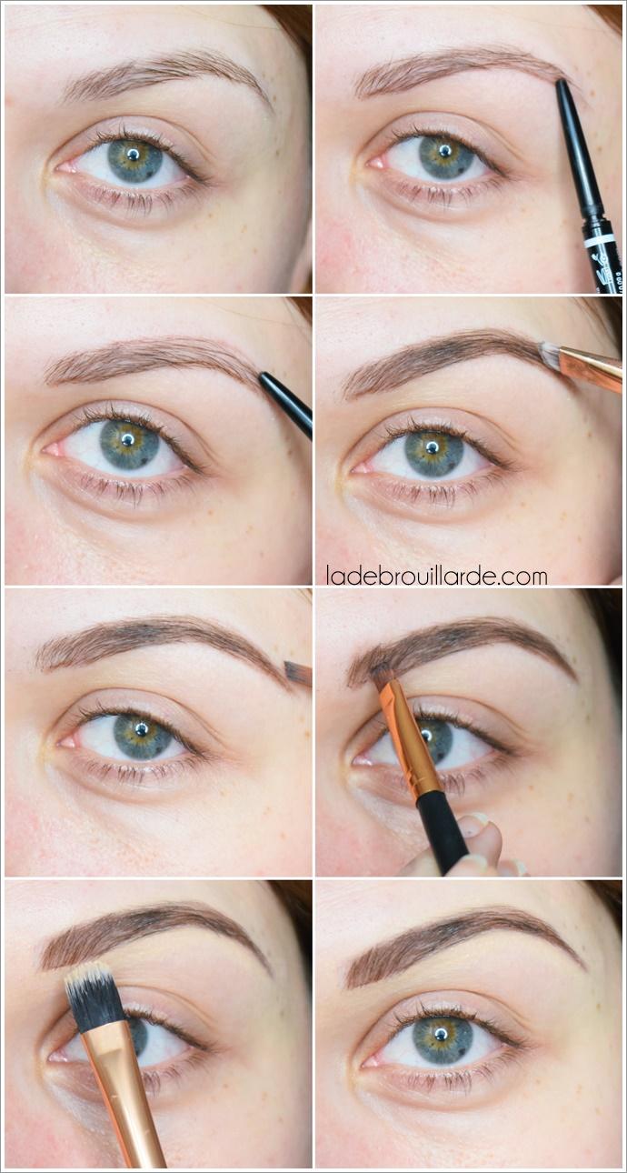 tutoriel maquillage sourcils instagram