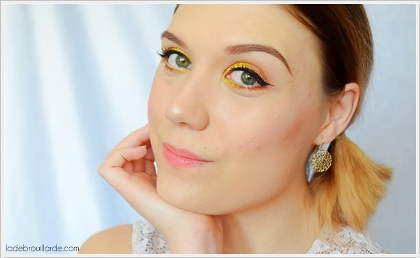 maquillage jaune printemps facile à faire