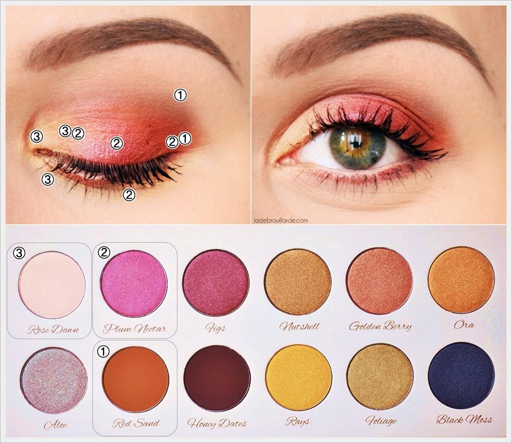 tutoriel maquillage image zephir palette printemps