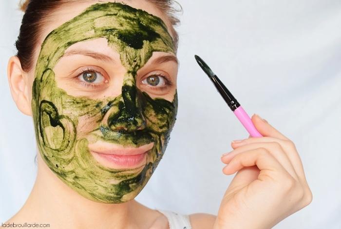 recette masque maison spiruline anti acné point noir naturel