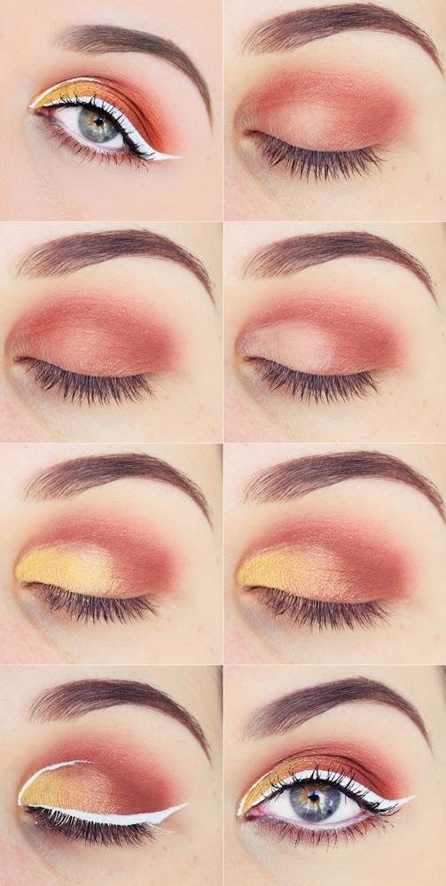 tutoriel maquillage eye liner blanc