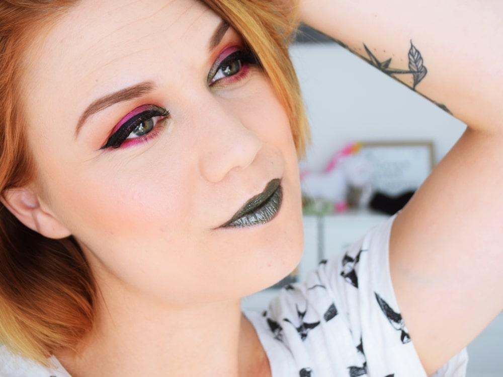 tutoriel maquillage rose kaki lumière été 2017