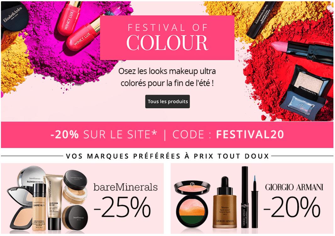 bon plan feelunique -20% code promo