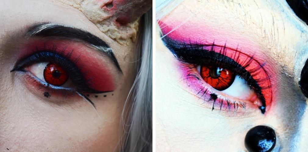maquillage démon yeux