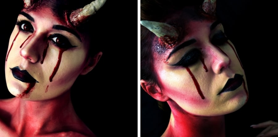 maquillage demon halloween tutoriel