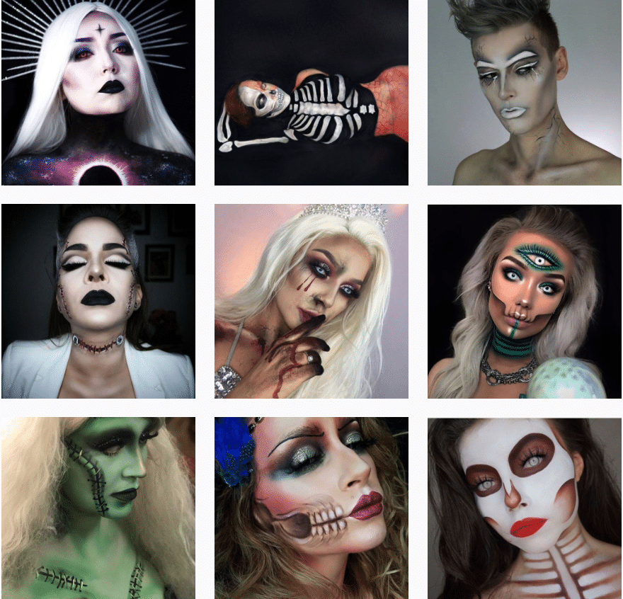 maquillage halloween inspiration instagram