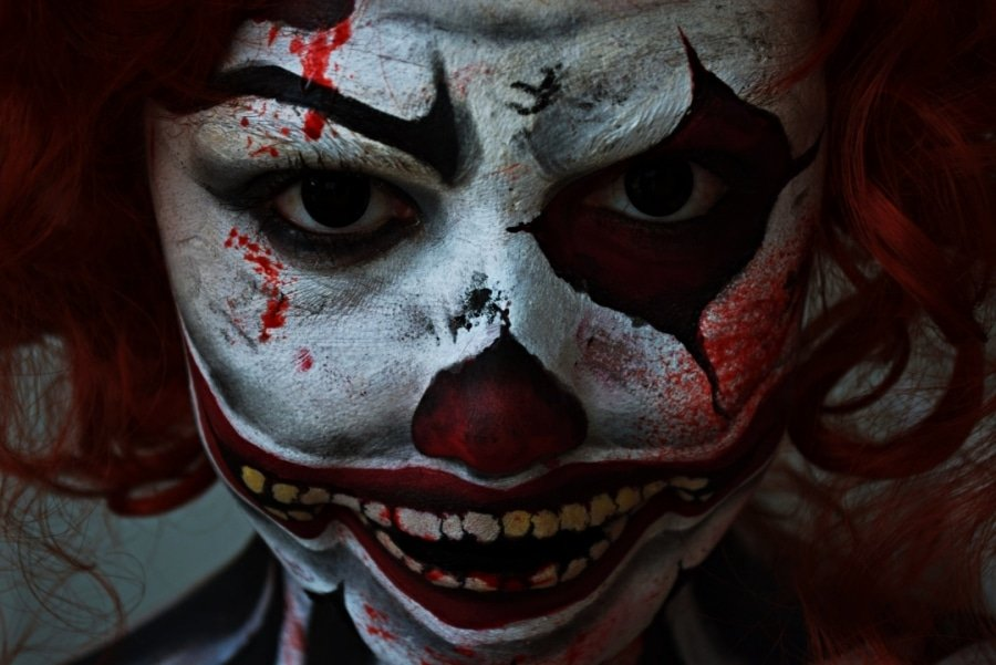 clown tueur maquillage halloween tutoriel