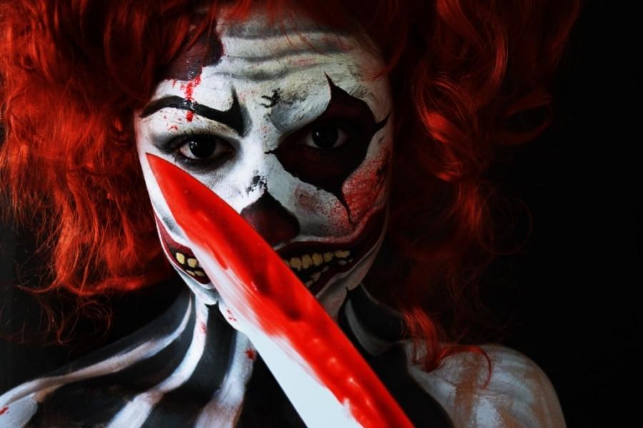 clown killer halloween makeup tutorial