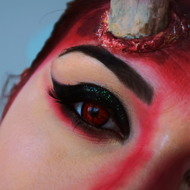 demon makeup halloween tuto