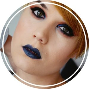tutoriel maquillage bleu orange