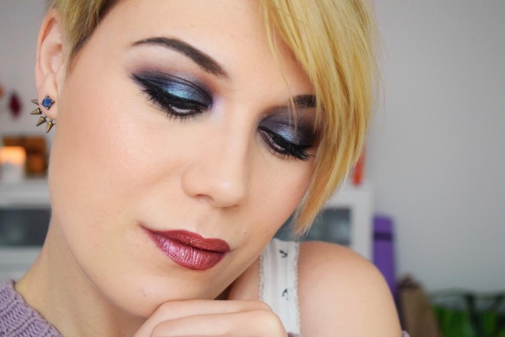 tuto makeup blue