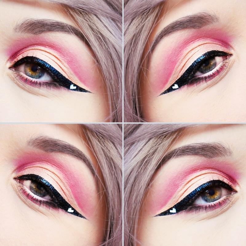 maquillage saint valentin eye liner coeur