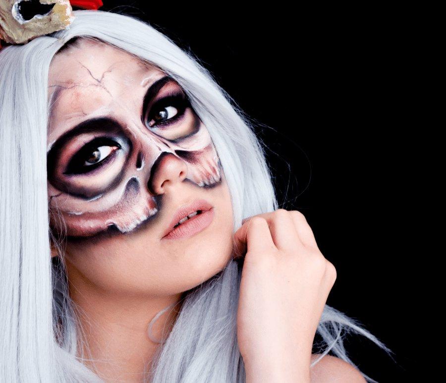 Makeup skull halloween