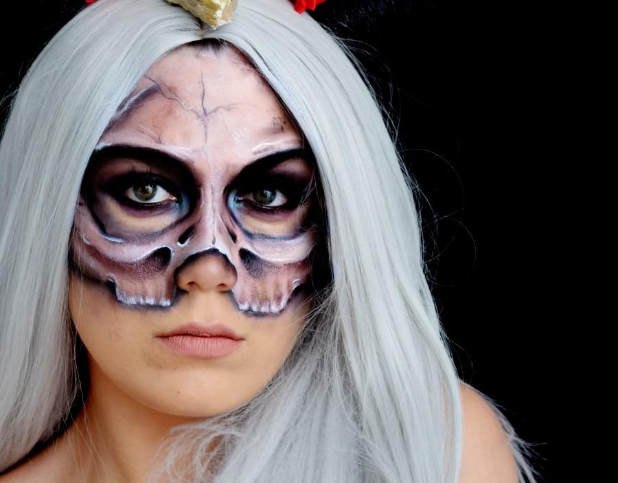 Halloween maquillage squelette