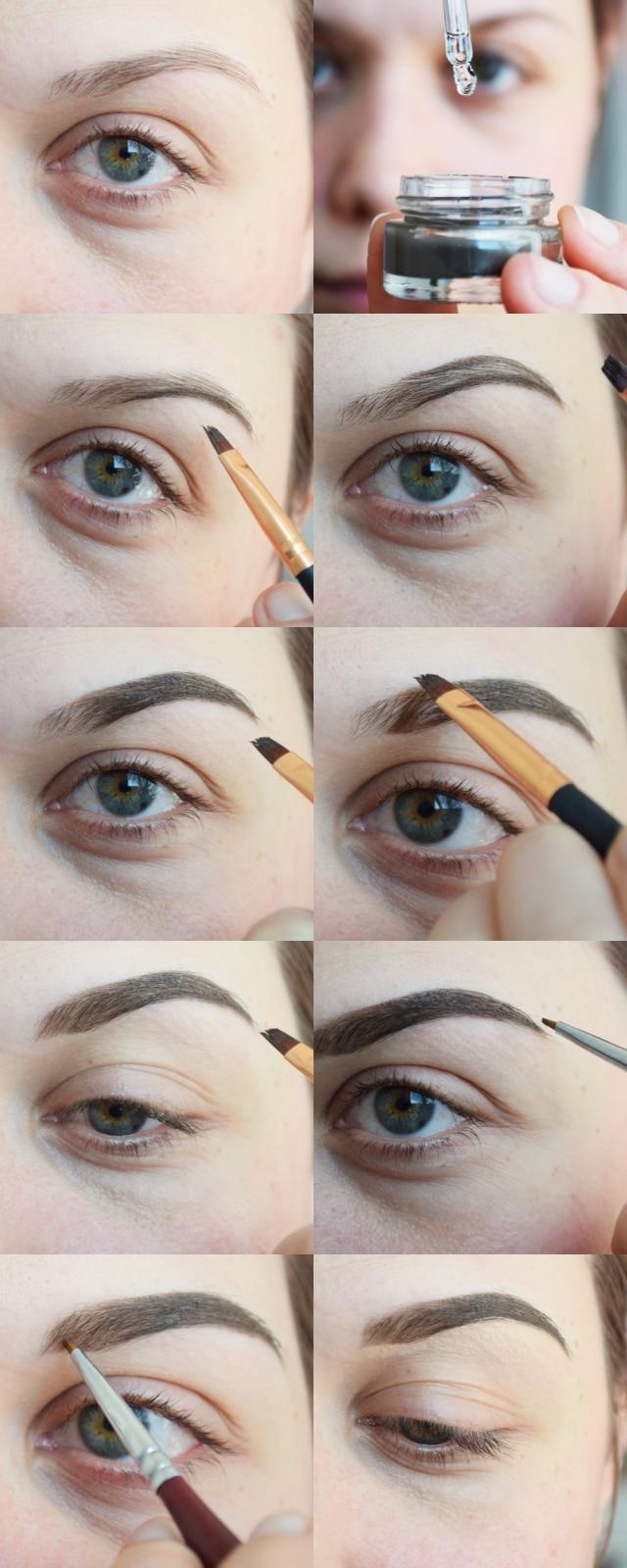maquillage sourcils pommade gel tutoriel