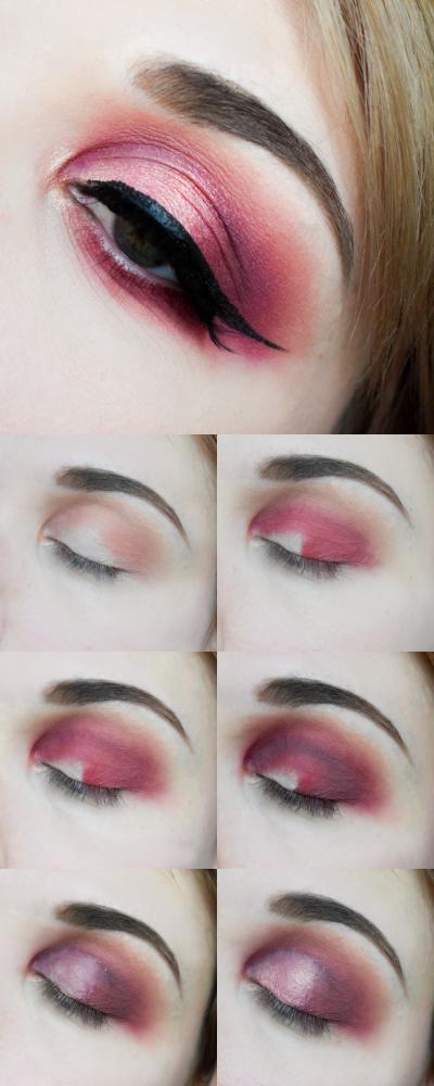 maquillage fête noel rose lumineux smoky tutoriel