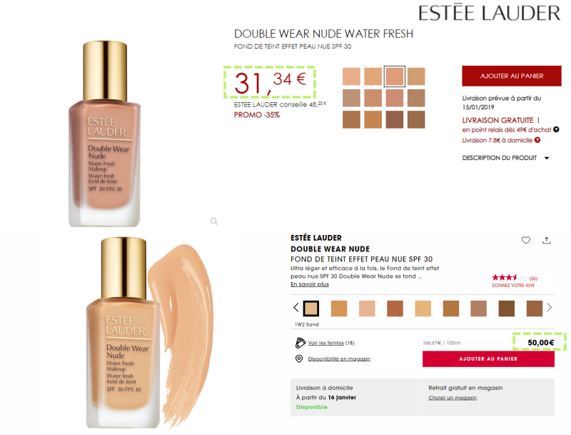 estee lauder incenza-down