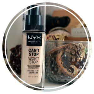 Le fond de teint Can't stop won't stop de NYX – La Haute couvrance à petit prix